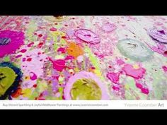 Yvonne Coomber: Close Up View of an Original Wild Flower Floral Landscape Painting Kunstjournal Inspiration, Art Journal Inspiration, Flower Artists, Acrylic Painting Tutorials, Contemporary Artwork, Print Store, Online Gallery, Art Blog, Landscape Paintings