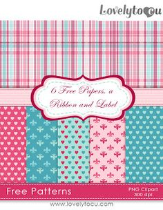 Lovelytocu... very girly freebies, by Shawnna Rennae Porter: Free digital paper set