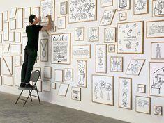 Eine fantastische Idee und Wandgestaltung, die Illustrator Timothy Goodman im AirBnB Büro in San Francisco realisiert hat: Eine 18 Meter lange Wand, die vo