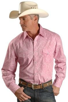 Wrangler National Patriot Paisley Pink Long Sleeve Western Shirt available at #Sheplers