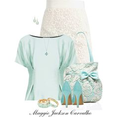 """""""Lace & Pastels"""" by maggie-jackson-carvalho on Polyvore"""