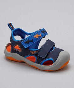 Take a look at the OshKosh B'gosh Navy Rapid Sport Sandal - Toddler & Boys on #zulily today!