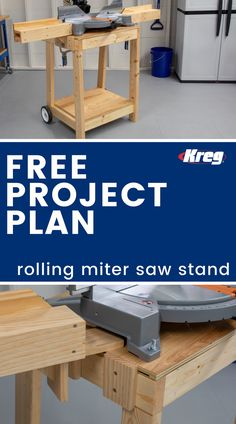FREE Project Plan Rolling Miter Saw Stand Building this project will make your other DIY projects easier to build This miter saw stand gives a home to one of your most i.