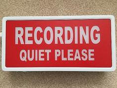 RECORDING LIGHT BOX RED & WHITE LIGHT UP Metal Sign PROFESSIONAL Studio