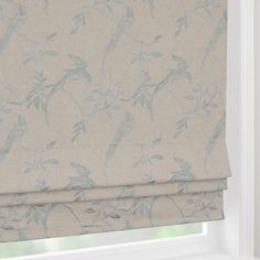 Duck Egg Songbird Blackout Roman Blinds for bedroom (£70 approx.)