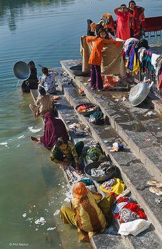Wash day - Udaipur, India