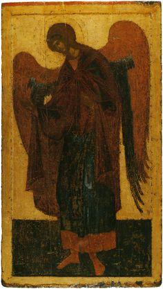 Архангел Гавриил, деисусный чин Благовещенского собора Московского кремля, главный мастер грек (возможно Феофан Грек), послед. четв. 14 в.