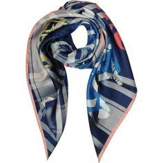 Vivienne Westwood Square Scarves Draped Tartan Print Silk Square Scarf (265 BAM) ❤ liked on Polyvore featuring accessories, scarves, navy, square scarves, tartan shawl, silk shawl, square silk scarves and plaid shawl