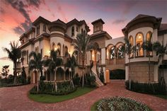 Photo-realistic rendering of Mediterranean home plan (ThePlanCollection: House Plan #175-1256)