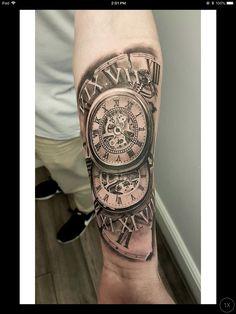 Tatuaje De Reloj Para Hombre En El Brazo Tattooideashombre Tattoo