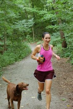Trail running with a dog would be fun.....maybe I can borrow a dog for an hour lol