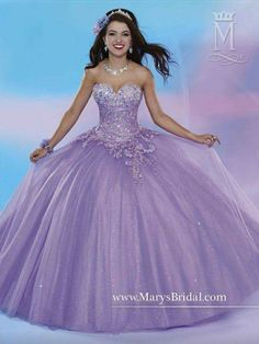 c4792bfb230 Style 46 53 by Mary s is a shimmering tulle quinceanera ball gown with  strapless sweetheart neckline