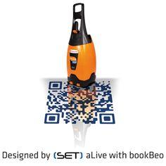 QR Code bookBeo designé pour Totalgaz par SET Qr Codes, Vacuums, Coding, Home Appliances, Design, House Appliances, Vacuum Cleaners, Appliances