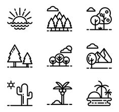Free vector icons in SVG, PSD, PNG, EPS format or as ICON FONT. Thousands of free icons in the largest database of free vector icons! Mini Drawings, Cute Easy Drawings, Doodle Drawings, Doodle Art, Cool Small Drawings, Free Vector Art, Vector Icons, Cute Doodles, Simple Art