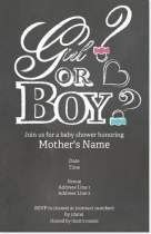 gender reveal gender reveal party Invitations & Announcements
