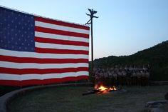 Summer Camp Campfire time at Worth Ranch BSA