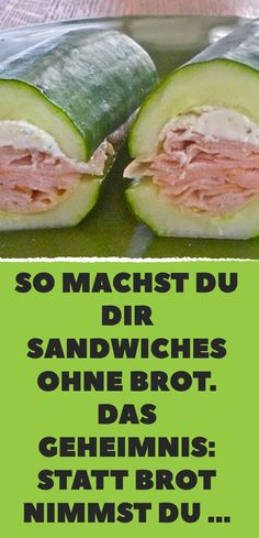So machst du dir Sandwiches ohne Brot. Das Geheimnis: Statt Brot nimmst du … So you make sandwiches without bread. The secret: Instead of bread, you take … Low Carb Sandwiches, Low Carb Recipes, Healthy Recipes, Easy Sandwich Recipes, Paleo Dessert, Convenience Food, Food Lists, Finger Foods, Food Videos