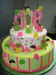 Braelyn's 1st bday cake idea