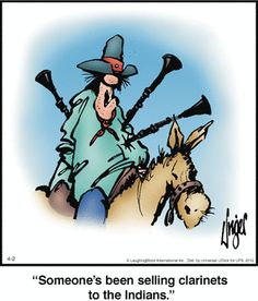 Someone's Been Selling Clarinets To The Indians - Herman Cowboy Humor, Wild West, Comic Strips, Bowser, Laughter, Funny Jokes, Haha, Musicals, Clarinets