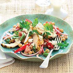 Main-Dish Chicken Salads    Grilled Chicken Greek Salad   MyRecipes.com