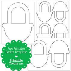 Free Printable Basket Template from PrintableTreats.com