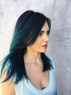 Teal mermaid / unicorn hair color @shear.renegade