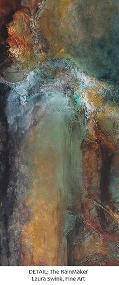 """New abstract art, mixed media painting by Laura Swink """"The RainMaker"""" 24 x 36 Acrylic on Canvas and Mixed Media. #laura_swink"""