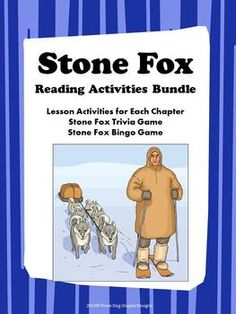 This is a complete bundle of worksheet activities (31 pages) + two printable games (bingo and trivia board game) for the novel Stone Fox written by John Reynolds Gardiner. The unit includes lessons which enhance vocabulary and comprehension skills, cause & effect, character's point of view, dramatic expression, main idea, summarizing, and more.