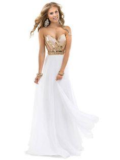 Empire Sleeveless Sweetheart Chiffon Beading Floor-length Dresses PromEver