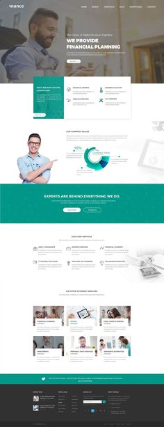 Finance is a free website template by PSDHub. The template was designed for finance, consulting or general business website. Available in PSD template to make it easy for you to customize based you… Website Layout Template, Business Website Templates, Free Website Templates, Website Design Layout, Website Design Inspiration, Website Designs, Layout Inspiration, Layout Site, Web Layout