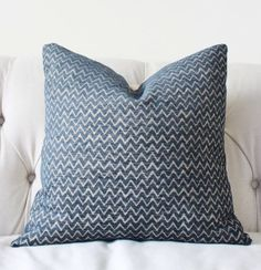 blue zig zag pillow cover navy blue geometric by