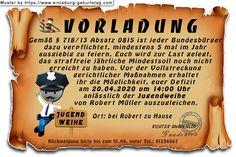 Die lustige Einladungskarte zur Jugendweihe als Vorladung für deine Gäste Invitation Text, Kid Birthdays, Young Adults