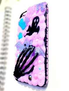 FREE SHIPPING iPhone 6+ Plus Decoden Phone Case- Pastel Goth Cute Kawaii Creepy Black Pink Purple Blue Spooky Halloween by SpookyScarySweets on Etsy https://www.etsy.com/listing/246975562/free-shipping-iphone-6-plus-decoden