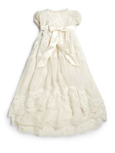 GET OUT...I may have to splurge....It is a very special day....Dolce & Gabbana - Infant's Lace Baptism Dress - Saks.com