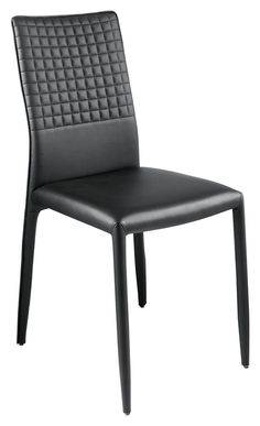 With its embossed grid design high back, the Grid dining chair will make a welcome accompaniment to any dining table. The chair is entirely covered in faux leather, making the legs a feature, as well as being superbly easy to clean.