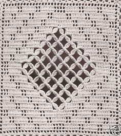 Crochet MOTIF BLOCK Crossbar Square Bedspread Pattern