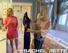 Emily Maynard from The Bachelorette wearing Love Ophelia coral bridal robe.