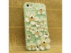 3D Little Daisy iPhone 5 case - Mint Green