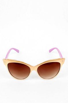 Gold winged sunglasses, cute! $8.00