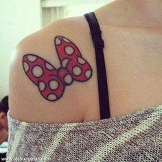 Minnie mouse bow tattoo