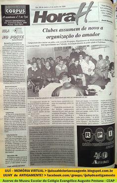 IJUÍ - RS - Memória Virtual: O futebol amador de Ijuí tentava uma nova organiza...