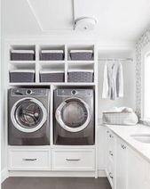 10 Small Laundry Room Ideas to Feel Spacious Inside - ARCHLUX.NET 10 small laundry room ideas to feel good in Room Closet, Laundry Design, Diy Laundry, Laundry Closet, Diy Laundry Room Storage, Room Design