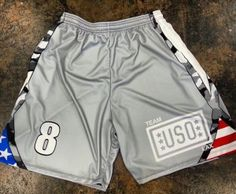 Team USO Lacrosse Shorts - Made to order Custom Lax Shorts