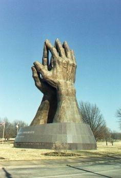 Praying Hands Sculpture at the ORU campus Tulsa, Oklahoma