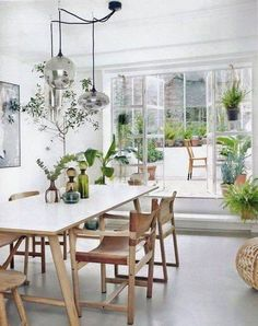 Beautiful Modern Farmhouse Dining Room Decor Ideas – Home Decor Ideas Deco Jungle, Home Interior, Interior Design, Interior Stylist, Luxury Interior, Interior Livingroom, Interior Plants, Design Interiors, Sweet Home