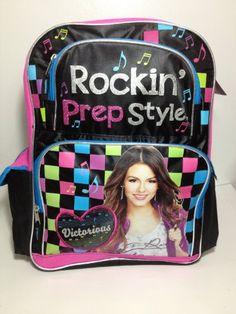 4ae4393b3c Nickelodeon Victorious Victoria Justice Tori Vega School Backpack Book Bag