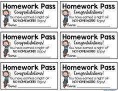 Homework Pass {FREEB