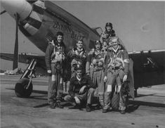 Batavia Blitz and pilots of the 384th Fighter Squadron