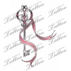 Marketplace Tattoo Victorian Skeleton Key + Ribbon #1620 | CreateMyTattoo.com