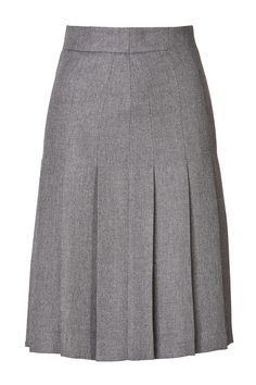Gray Wool Blend pleated skirt – Elizabeth's Custom Skirts